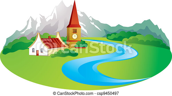 rural background in the mountain rural background with vectors rh canstockphoto com  snowy mountain background clipart