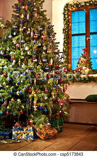 Rural Christmas Tree - csp5173843