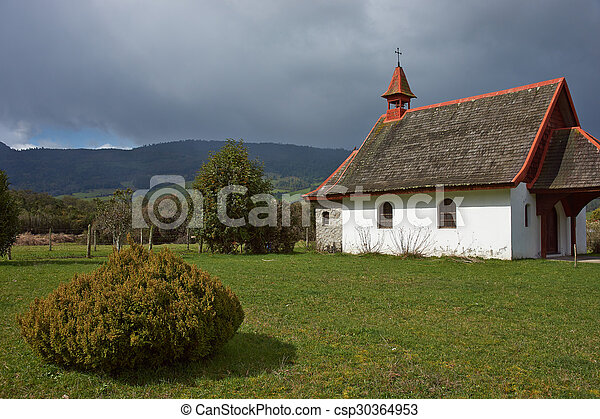 Rural Church in Southern Chile - csp30364953
