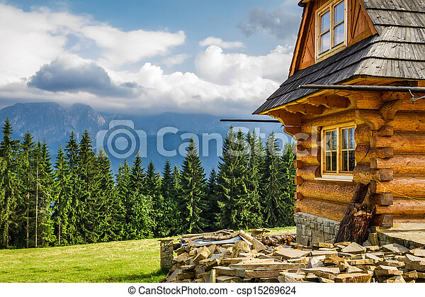 Rural cottage in the mountains - csp15269624