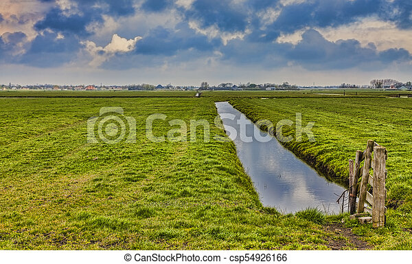 rural dutch landscape rural dutch landscape polder with a