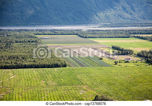 Rural Fields in Alaska - csp13768076