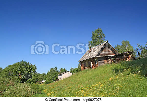 rural house on small hill - csp9927076