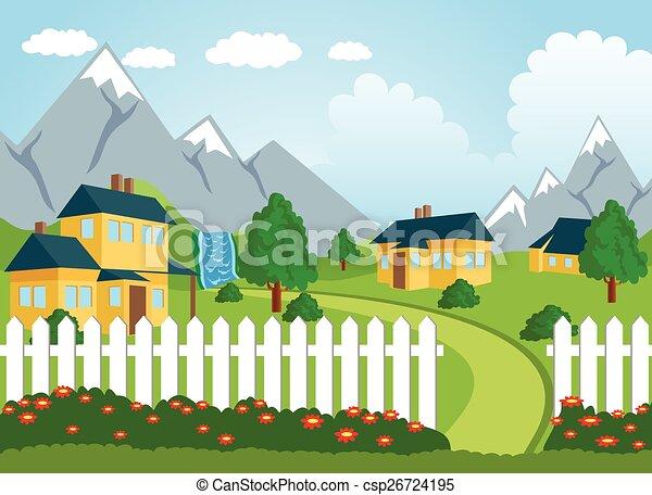 Rural landscape - csp26724195