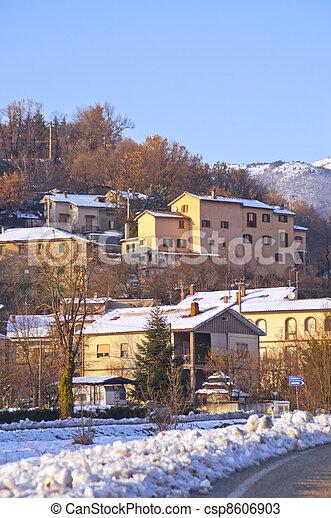 rural landscape in winter - csp8606903