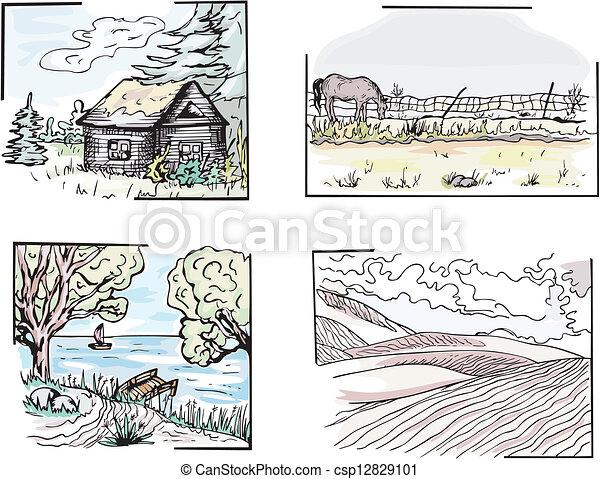 Paisajes rurales - csp12829101