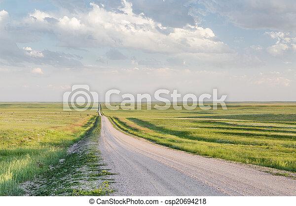 rural road in Colorado prairie - csp20694218