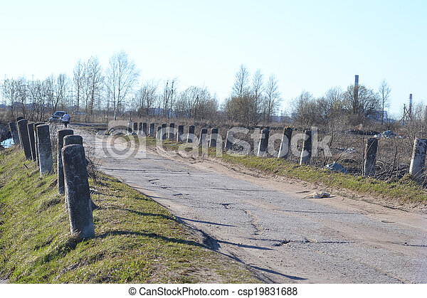 Rural road in the village of Petro-Slav - csp19831688