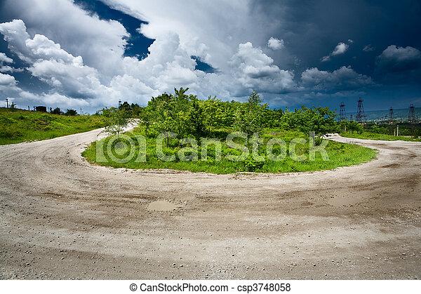 Rural road through trees - csp3748058
