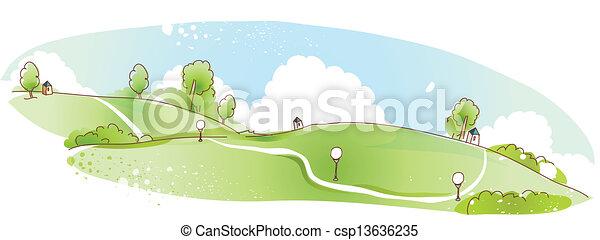 Rural scene - csp13636235