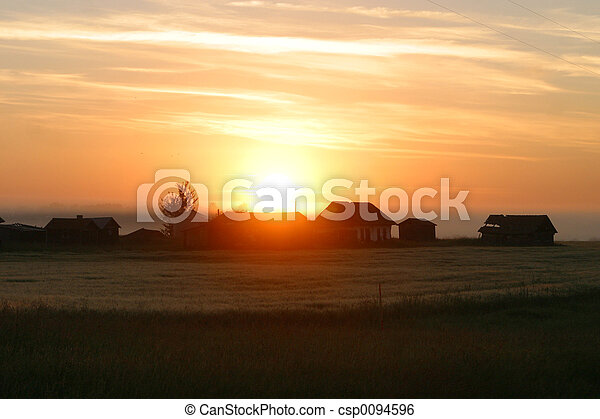 rural sunrise - csp0094596