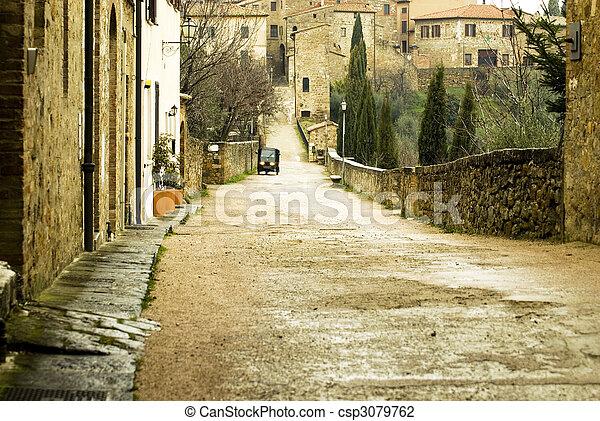 Rural tuscany village - csp3079762