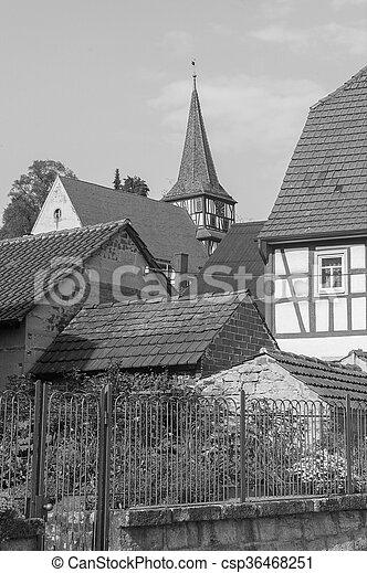 rural village detail - csp36468251