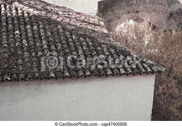 rural village detail - csp47400956