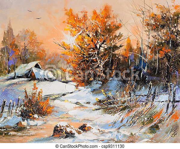 Rural winter landscape - csp9311130
