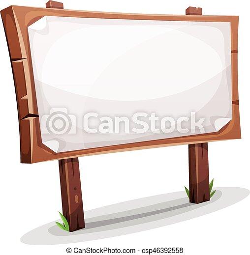 Rural Wood Sign - csp46392558