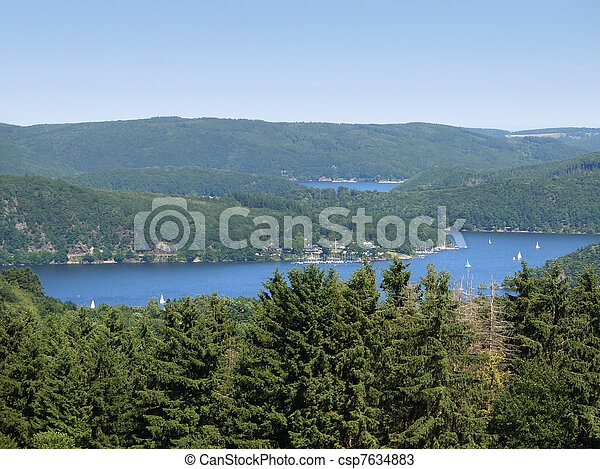 Rurtalstausee at summer time - csp7634883
