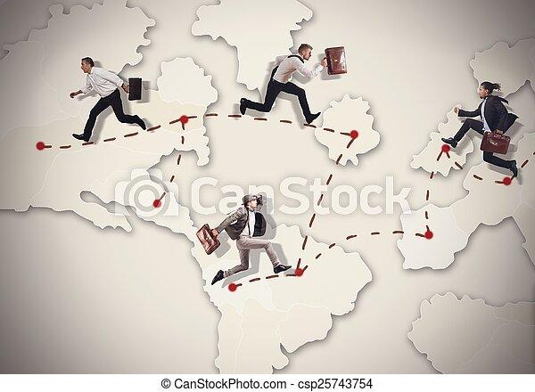 Rush around the world - csp25743754