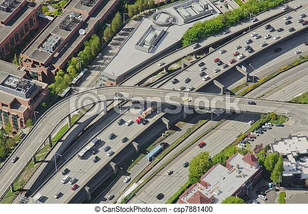 Rush Hour Traffic - Aerial - csp7881400