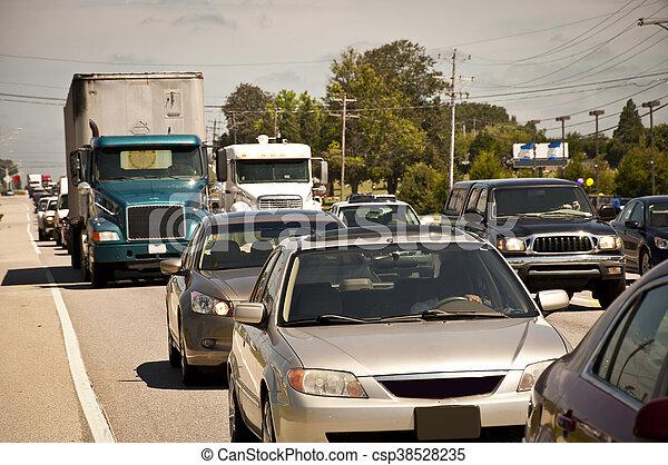 Rush Hour Traffic Jam - csp38528235