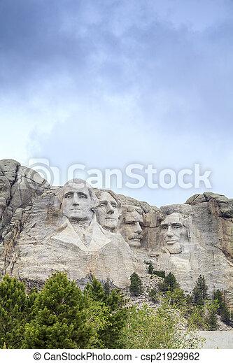 Presidentes del monumento nacional Mount Rushmore. - csp21929962