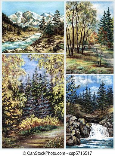 Rusko Altay Malba Krajina Pastel Dat Krajina Kresleni