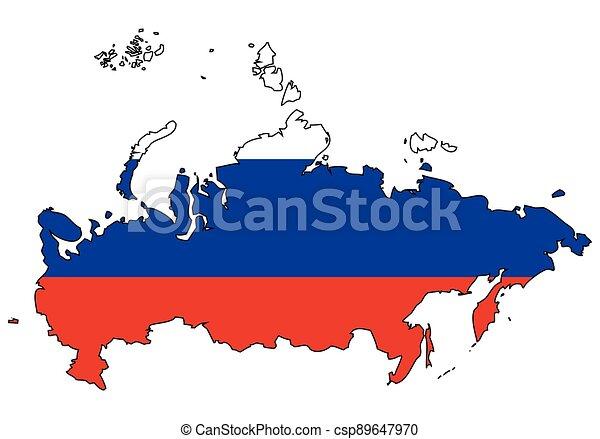 rusko, -, celostátní mapovat, nárys, state flag - csp89647970