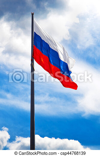 russe, drapeau ondulant - csp44768139