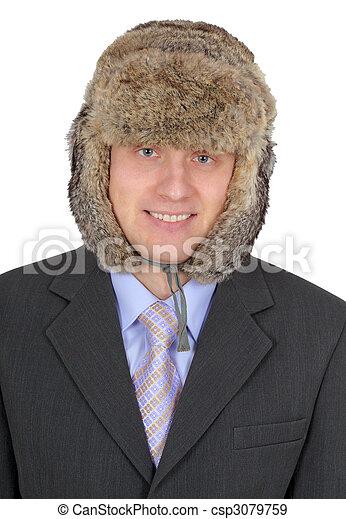 russe homme affaires toque portrait fourrure isol photographies de stock rechercher. Black Bedroom Furniture Sets. Home Design Ideas