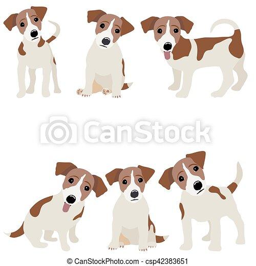 Jack Russell Terrier. Ilustración vectorial de un perro - csp42383651