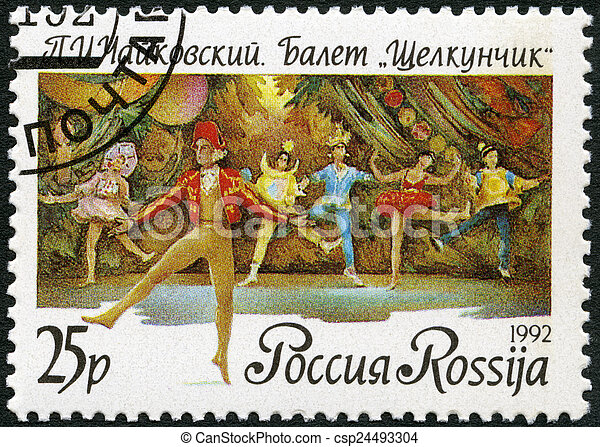 """RUSSIA - 1992: shows a scene from the ballet """"The Nutckracker"""",  - csp24493304"""
