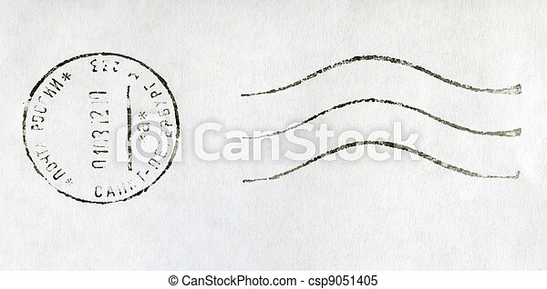 RUSSIA - 2012: black postmark stamp, Russia, St. Petersburg - csp9051405