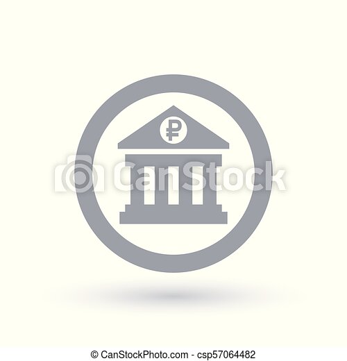 Russia Bank Icon Russian Ruble Banking Symbol Russia Bank Icon