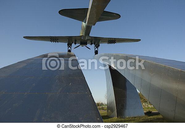 Russia. Dubna city. Attack plane IL-2 - csp2929467