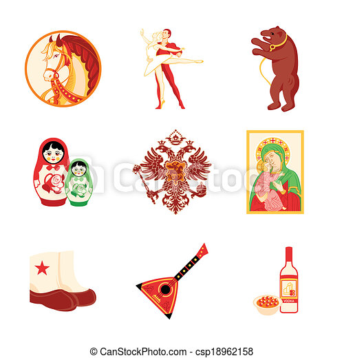 Russia Icons Animal Religious And Culture Symbols Of Russia
