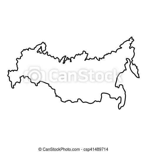 Russia map icon outline style Russia map icon outline
