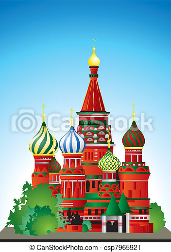 Russia St. Basil's Cathedral - csp7965921