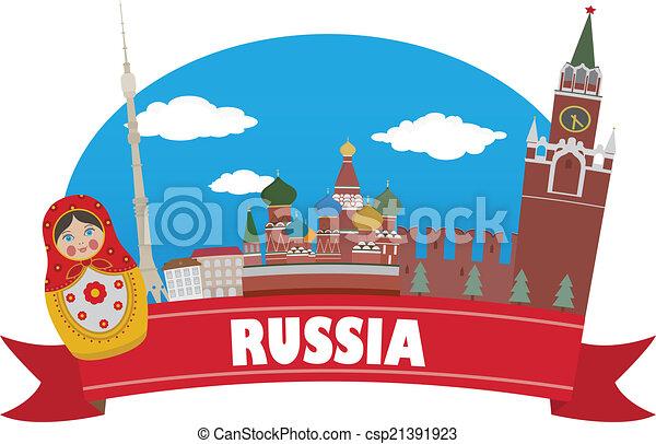 russia., viaggiare turismo - csp21391923