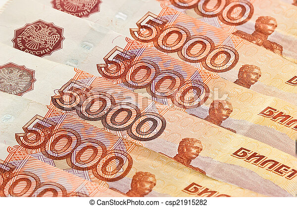 Russian banknotes. Background - csp21915282