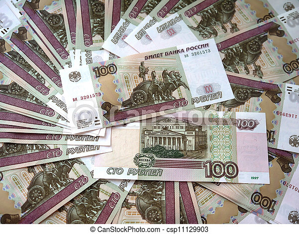 Russian banknotes in a hundred rou - csp11129903