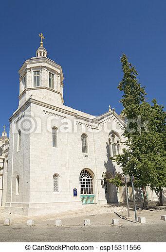 russian church in jerusalem israel - csp15311556