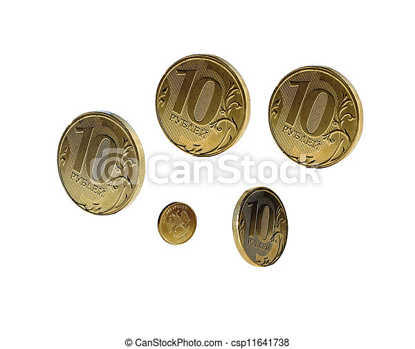 Russian coins of 10 rubles - csp11641738