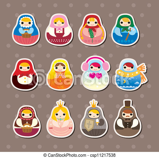 Russian dolls stickers - csp11217538