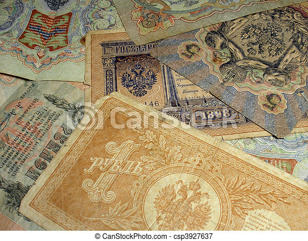 Russian empire money - csp3927637