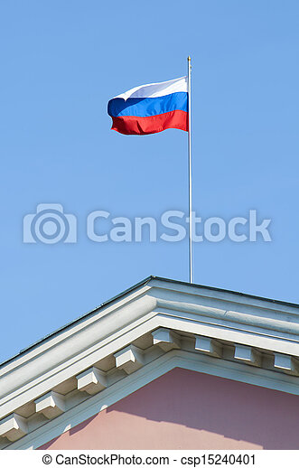 Russian flag, growing in the wind - csp15240401