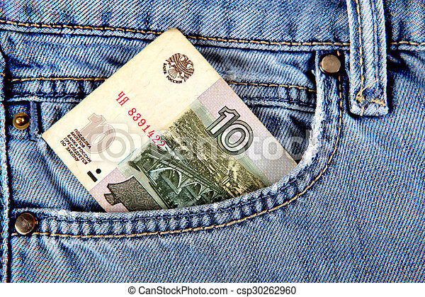 Russian Money in the Pocket - csp30262960