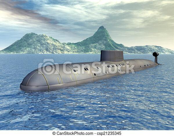 Russian Nuclear Submarine - csp21235345