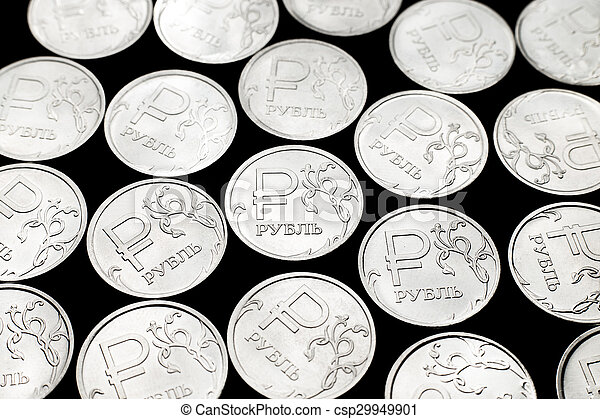 Russian ruble coins - csp29949901
