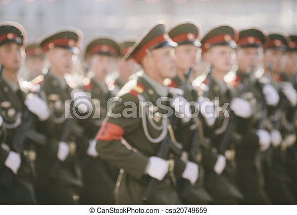 russian soldiers at the parade - csp20749659
