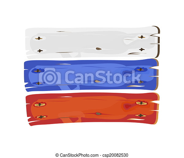 russische , geverfde, vlag, hout - csp20082530